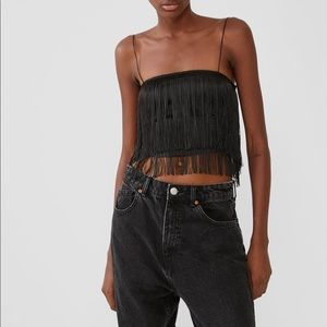 ZARA crop top with fringe